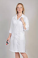 Медицинский халат 1120 (габардин, белый, р.40-60) Хелслайф, фото 1