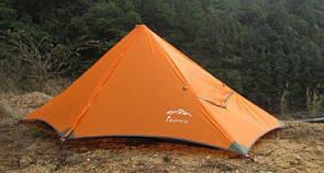 Туристическая легкоходная палатка AXEMEN . Треккинговая 1 местная палатка ПИРАМИДА ( легкопохидная )