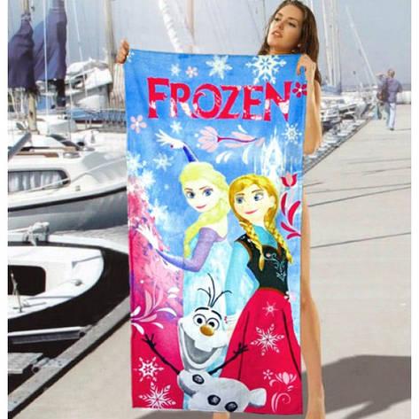 Детское пляжное полотенце Frozen - №2475, фото 2