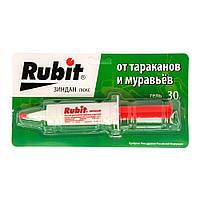 Средство от тараканов и насекомых Rubit 30г (гель-шприц), фото 1