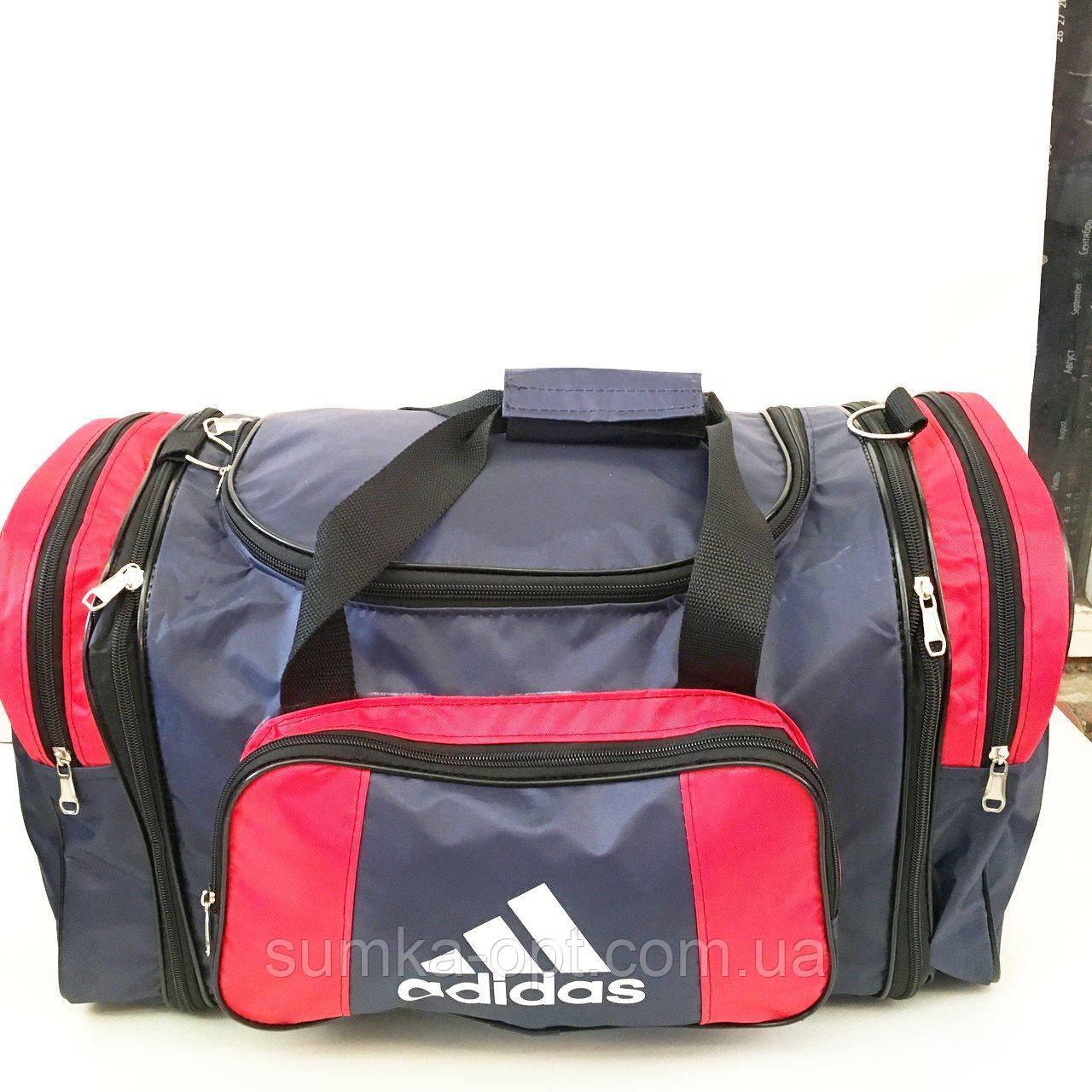 Дорожные сумки-ТРАНСФОРМЕР Adidas (синий+красный)31х53=31х63см