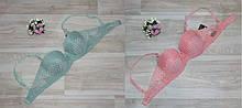 Бюстгалтери анжеліка арт 9174 рожевий,зелений чашка А70,75,80