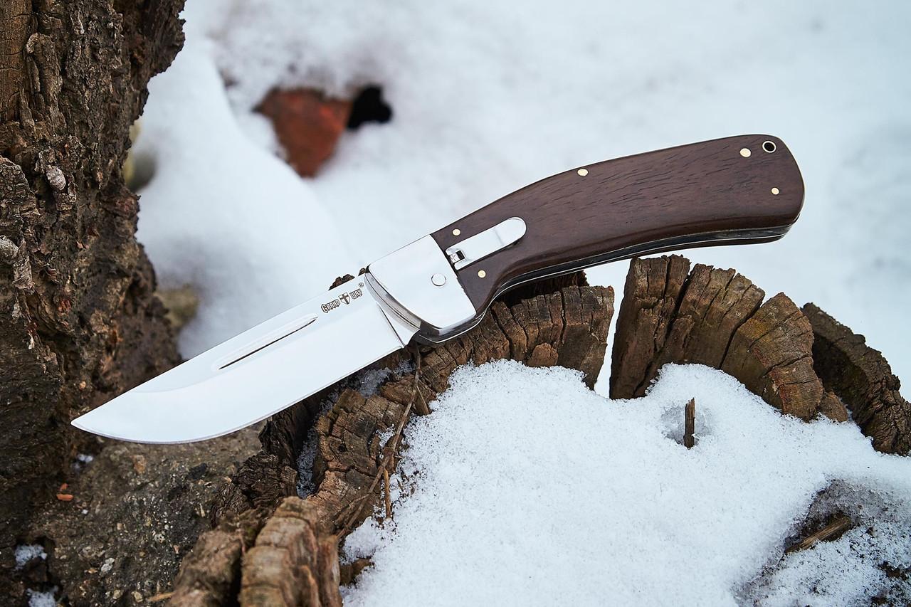 Нож выкидной с запорным механизмом флажкового типа 1315