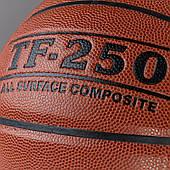Мяч баскетбольный Spalding TF-250 in/outdoor размер 7 для улицы-зала композитная кожа коричневый