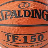 Мяч баскетбольный TF-150 Outdoor FIBA Logo размер 5, 6, 7 резиновый коричневый