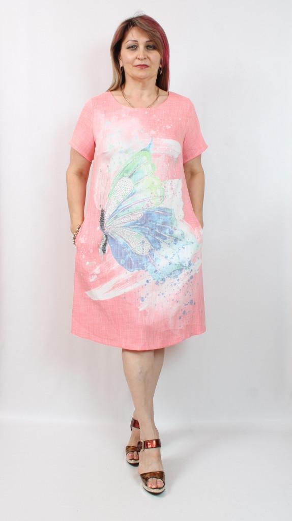 Турецкое летнее женское платье свободного кроя, 50-56