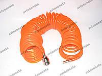 Шланг воздушный спиральный 10м. AIR-10M Technics (orange)