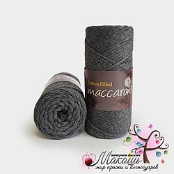 Хлопковый шнур Maccaroni Cotton Filled 3 мм, №641, серый