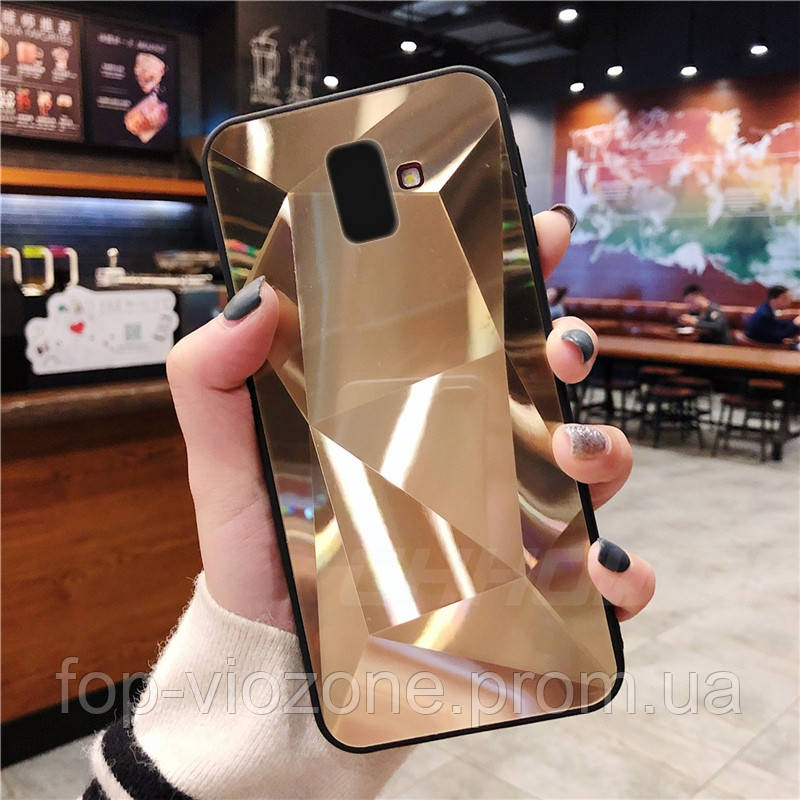 3D Зеркальный Чехол/Бампер для Samsung Galaxy J6 Plus 2018 / J610, Золотой