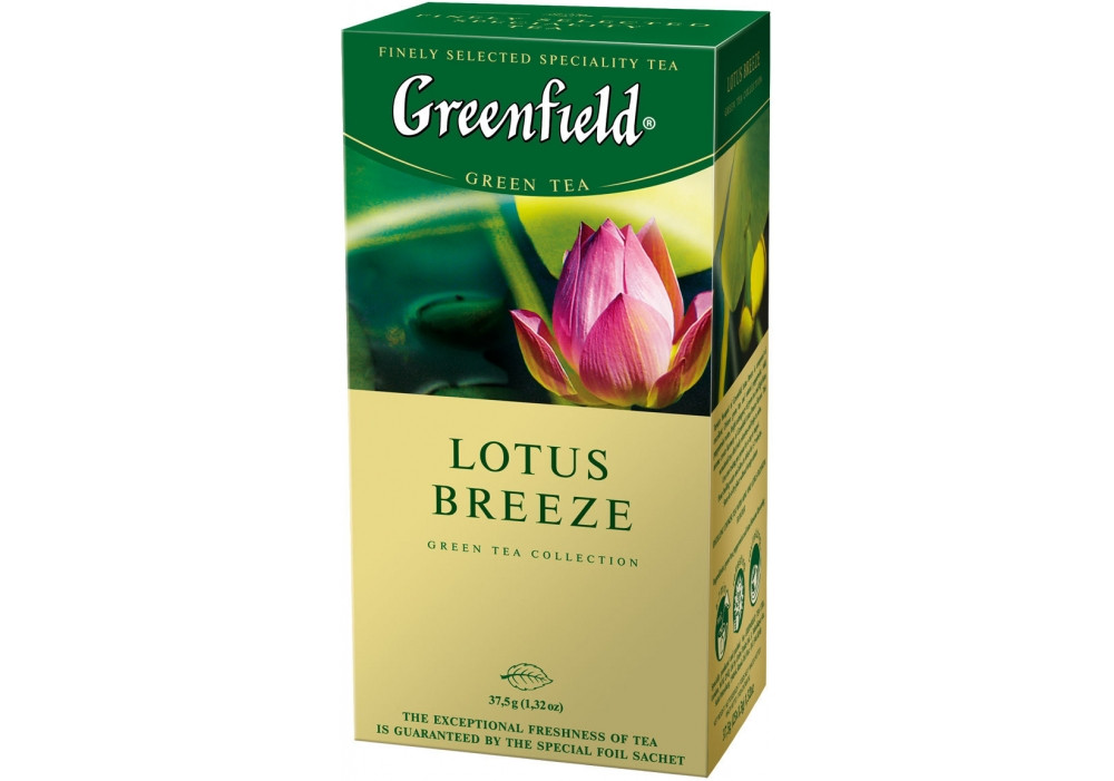Зеленый чай Greenfield Lotus Breeze (25 шт) Лотос
