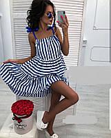 Платье женское в полоску на завязках  впр1170, фото 1