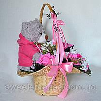 """Подарочная корзина с плюшевым мишкой """"Для любимой"""", фото 2"""