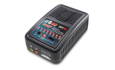 Зарядное устройство SkyRC E8 1/3/5/6A с/БП 100W для LiPo 1-8S аккумуляторов (SK-100096), фото 2