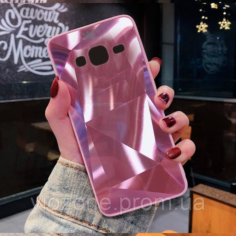 3D Зеркальный Чехол/Бампер для Samsung Galaxy J3 2016 / J320, Розовый