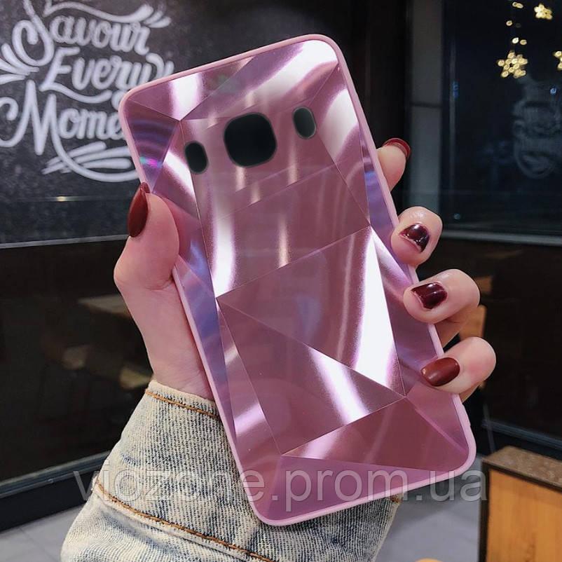 3D Зеркальный Чехол/Бампер для Samsung Galaxy J5 2016 / J510, Розовый