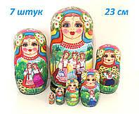 Матрешки в украинском стиле красивые большие расписные (18)