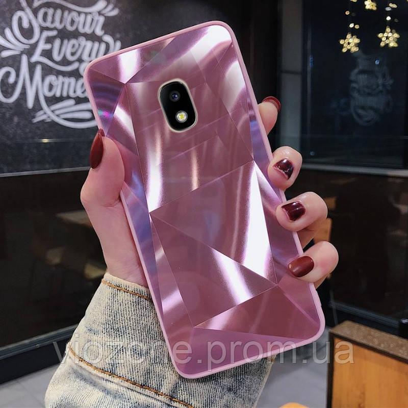 3D Зеркальный Чехол/Бампер для Samsung Galaxy J5 2017 / J530, Розовый