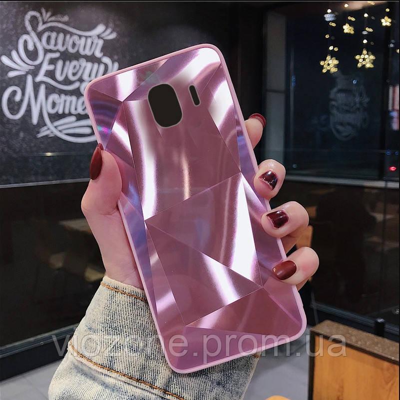 3D Зеркальный Чехол/Бампер для Samsung Galaxy J4 2018 / J400, Розовый