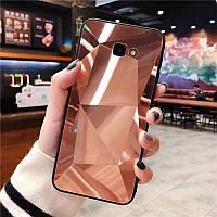 3D Зеркальный Чехол/Бампер для Samsung Galaxy J4 Plus 2018 / J415, Розовый