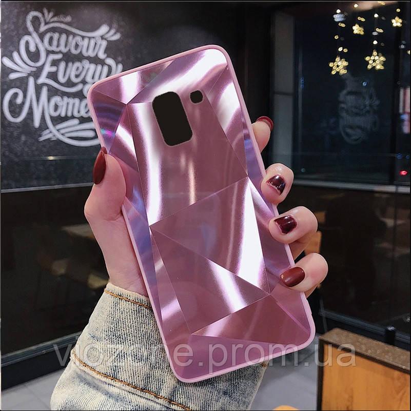 3D Зеркальный Чехол/Бампер для Samsung Galaxy J6 2018 / J600, Розовый