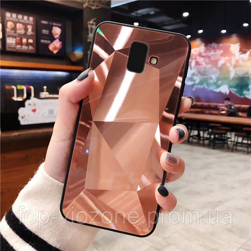 3D Зеркальный Чехол/Бампер для Samsung Galaxy J6 Plus 2018 / J610, Розовый