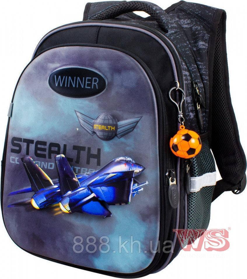 Школьный портфель с дышащей спинкой winner, рюкзак ортопедический для мальчика