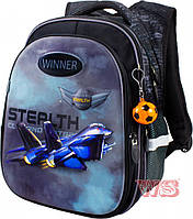 Школьный портфель с дышащей спинкой winner, рюкзак ортопедический для мальчика, фото 1