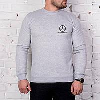 Свитшот серый принт Mercedes Benz | Кофта стильная, фото 1