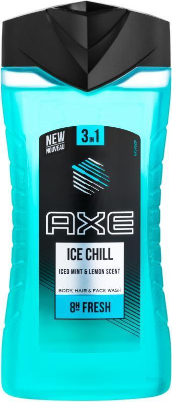 """Гель для душа и шампунь AXE """"Ice Chill 3 в 1"""" (250мл.)"""