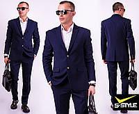 Деловой классический мужской костюм  с 44 по 56 размер