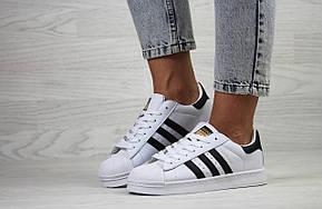 Подростковые кроссовки Adidas Superstar белые с черным, фото 2