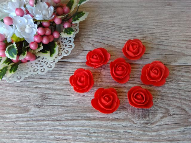 rosa foamiran 3 sm