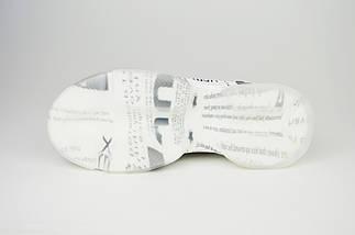 Кроссовки женские серые на белой платформе Lonza 6083, фото 3