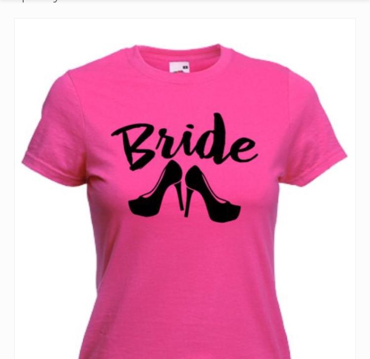 Женская футболка Bride Heels