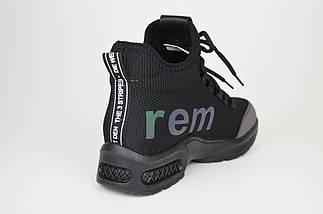 Ботинки текстильные черные женские Allshoes 998, фото 2