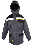 Куртка рабочая утепленная «ЭКСПЕРТ» серая с черным