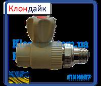 STR кран радиаторный прямой 25х3/4 (латунный шар)