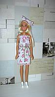Одежда для кукол Барби. Ручная работа! Легкое летнее платье.
