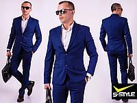 Деловой мужской классический  костюм с приталенным пиджаком  с 46 по 60 размер