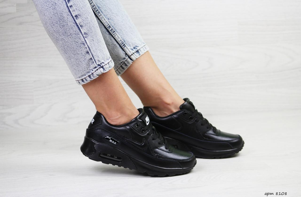 Женские кроссовки Nike air max 90,черные