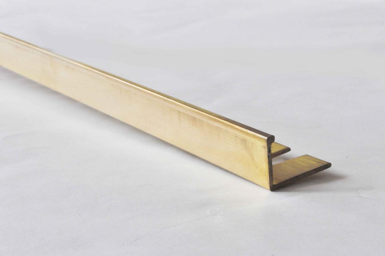 Г образный латунный уголок для плитки гибкий Pawotex 10 мм 2.5 м MOPG10