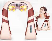 Универсальный Массажер для шеи, плеч, спины и поясницы 6 кнопок 65 W (Оригинал) Шиацу