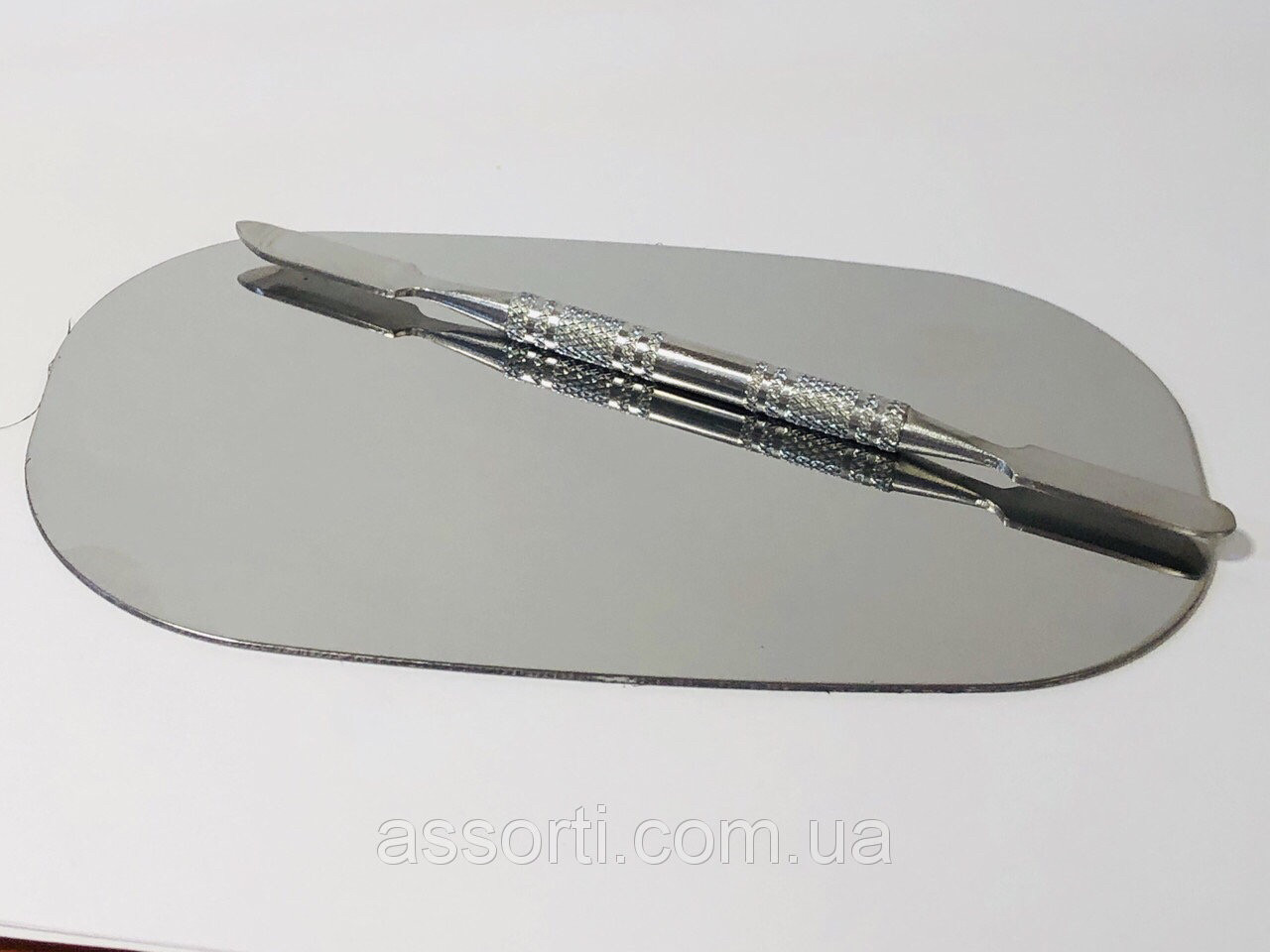 Металлическая палитра + шпатель, набор в силиконовом чехле