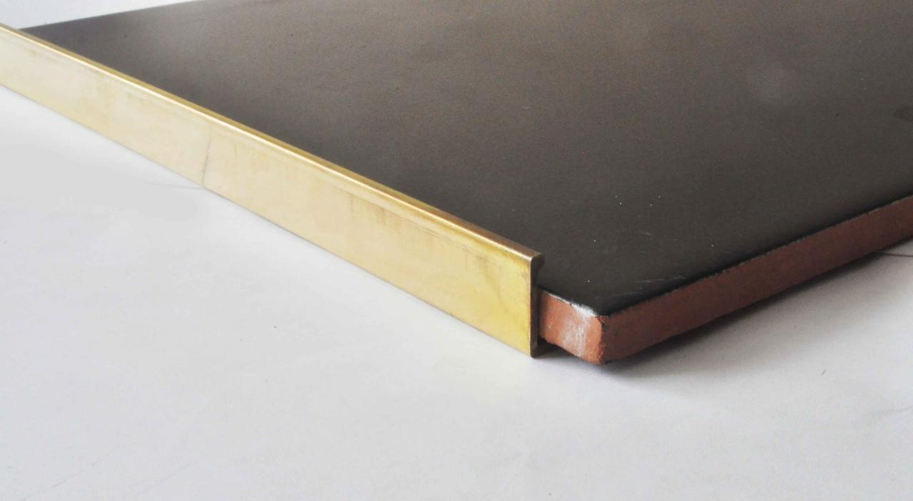 Г образный латунный профиль для плитки гибкий Pawotex 12.5 мм 2.5 м MOPG12.5