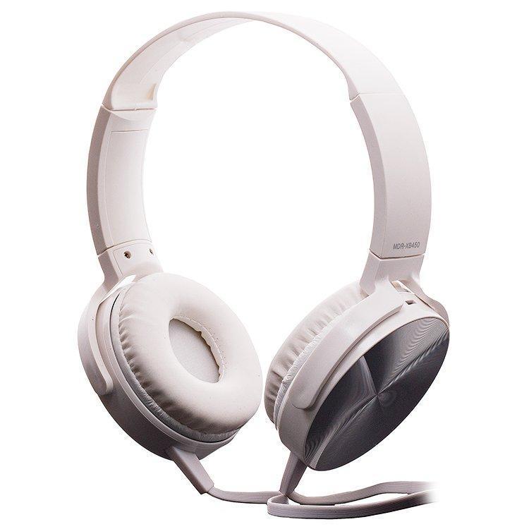 Накладные наушники гарнитура (с микрофоном) Extra Bass MDR-XB450AP белый УЦЕНКА
