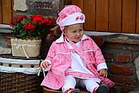Модный весенний комплект для девочки - плащ, сарафан, шапочка и сумочка (на рост 80-104 см)
