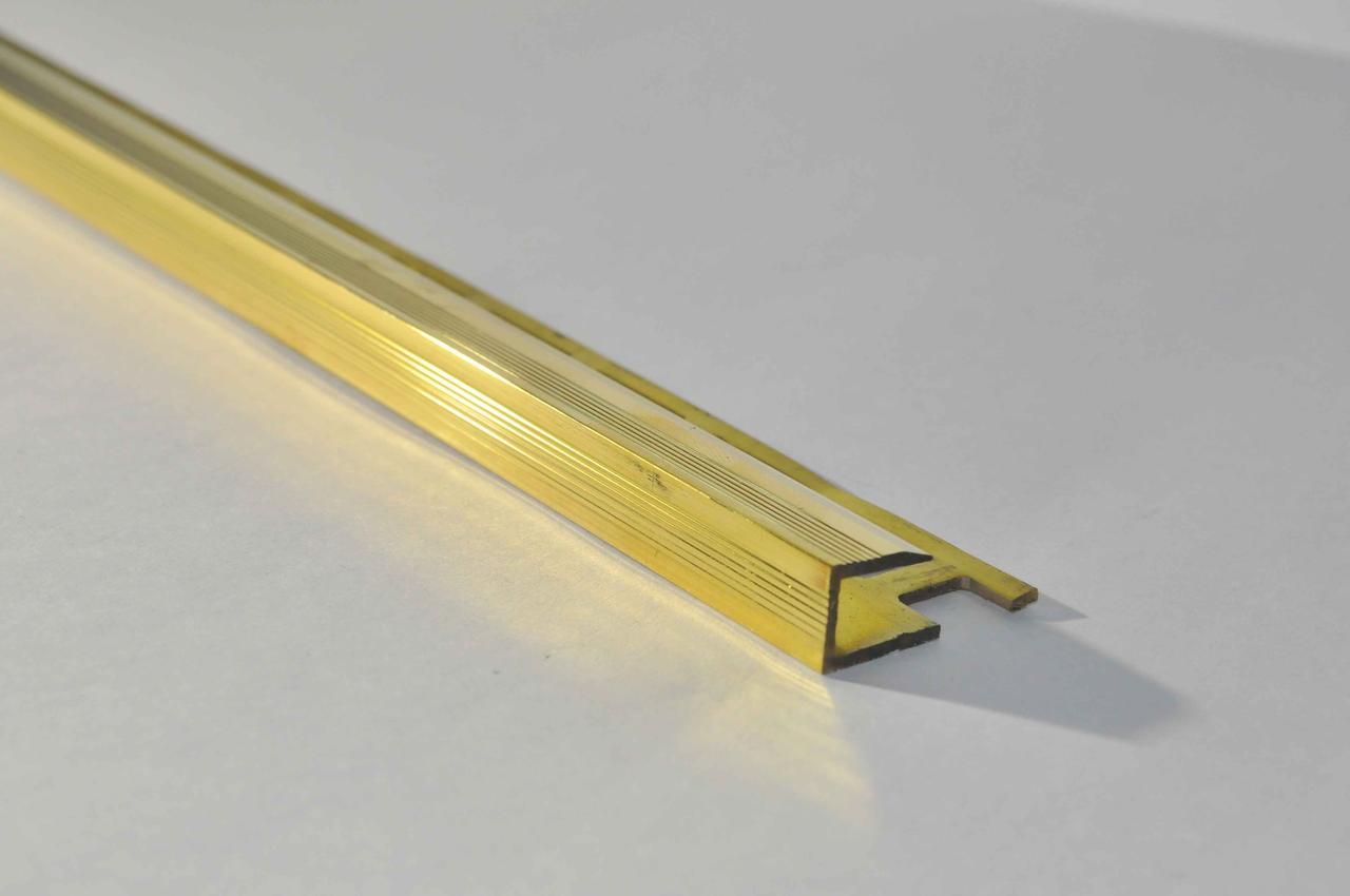 Латунний профіль для плитки і ламінату Pawotex 10 мм 2.5 м MLPC8-10