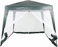 Павильон шатер палатка тент с москитной сеткой и молниями павільйон з москітною сіткою