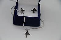 Набор украшений My Jewels из серебра черные камни Swarovski в стиле Apm Monaco, фото 1