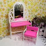 Мебель для кукол - столик с зеркалом и стул, фото 2